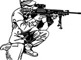 Soldier With Rifle Coloring Page