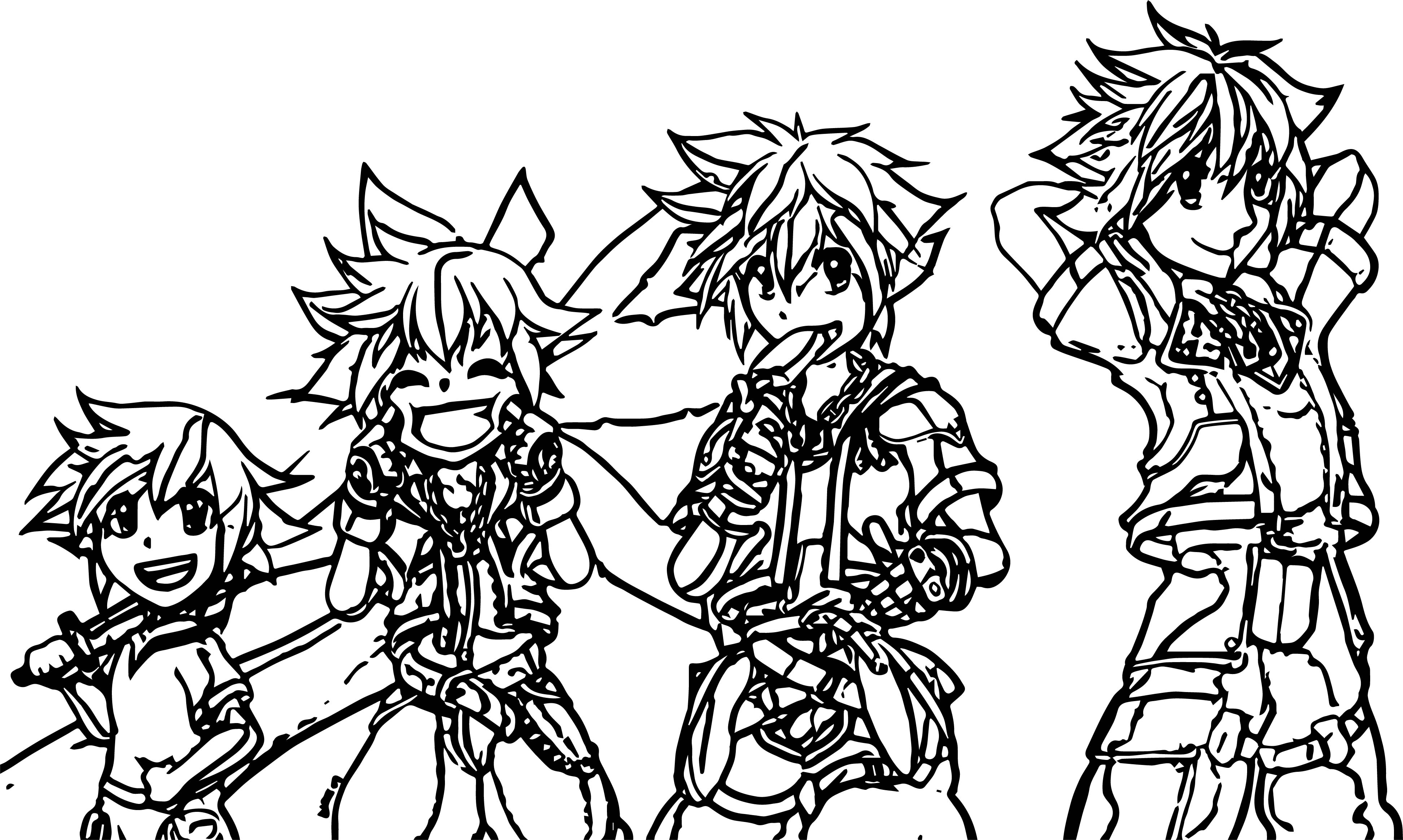 Sora Grown Up Col Suzuran Coloring Page