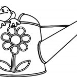 Spring Frog Water Cup Coloring Page