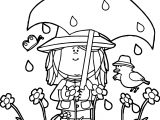 Spring Showers Coloring Page