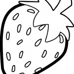 Strawberry Bold Outline Coloring Page
