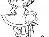 Super Amy Rose Coloring Page