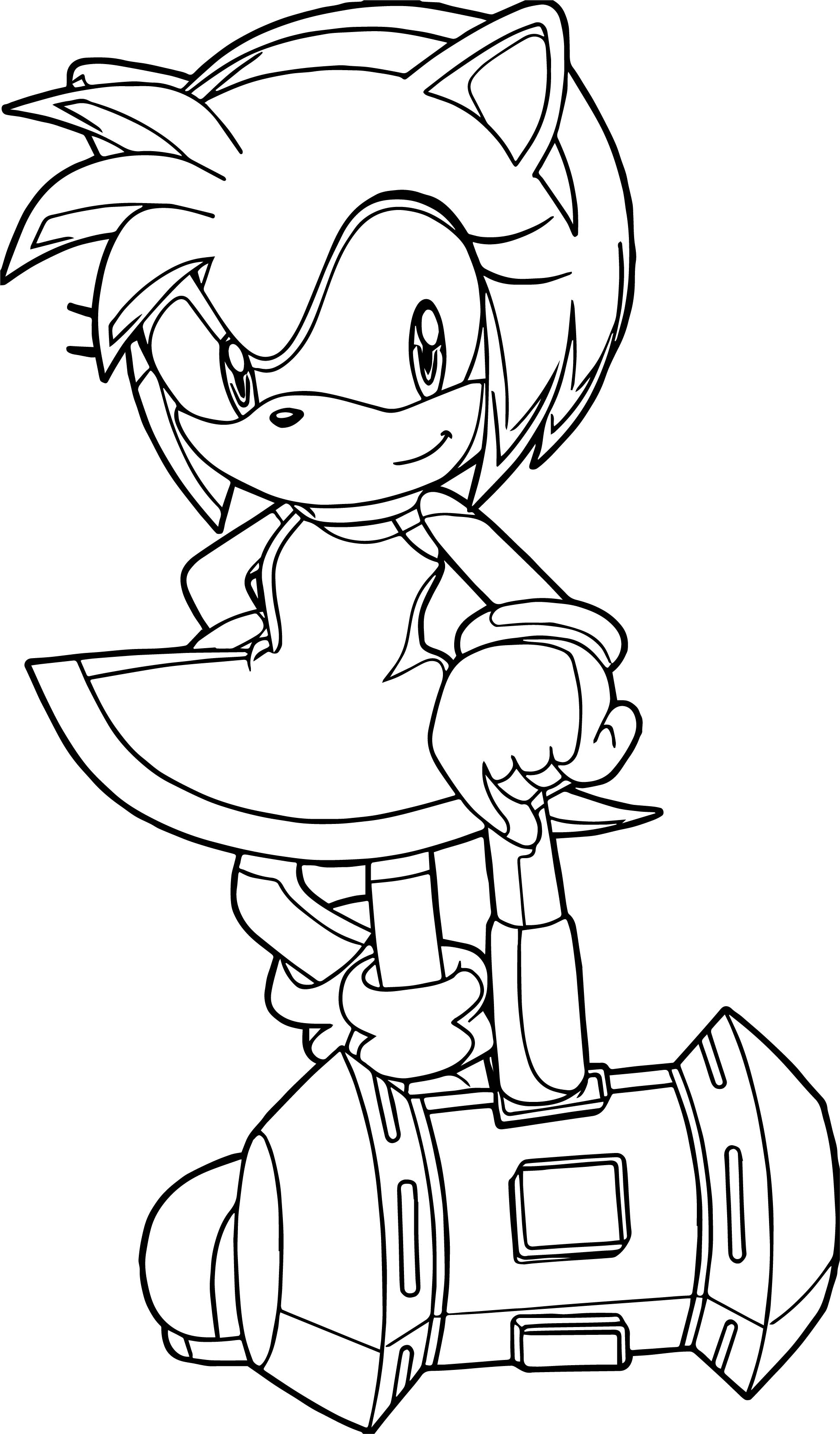 Super Amy Rose Coloring Page Wecoloringpage