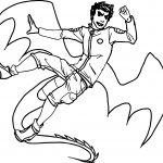 The American Dragon Man Coloring Page