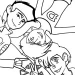 Three Friends American Dragon Jake Long Coloring Page