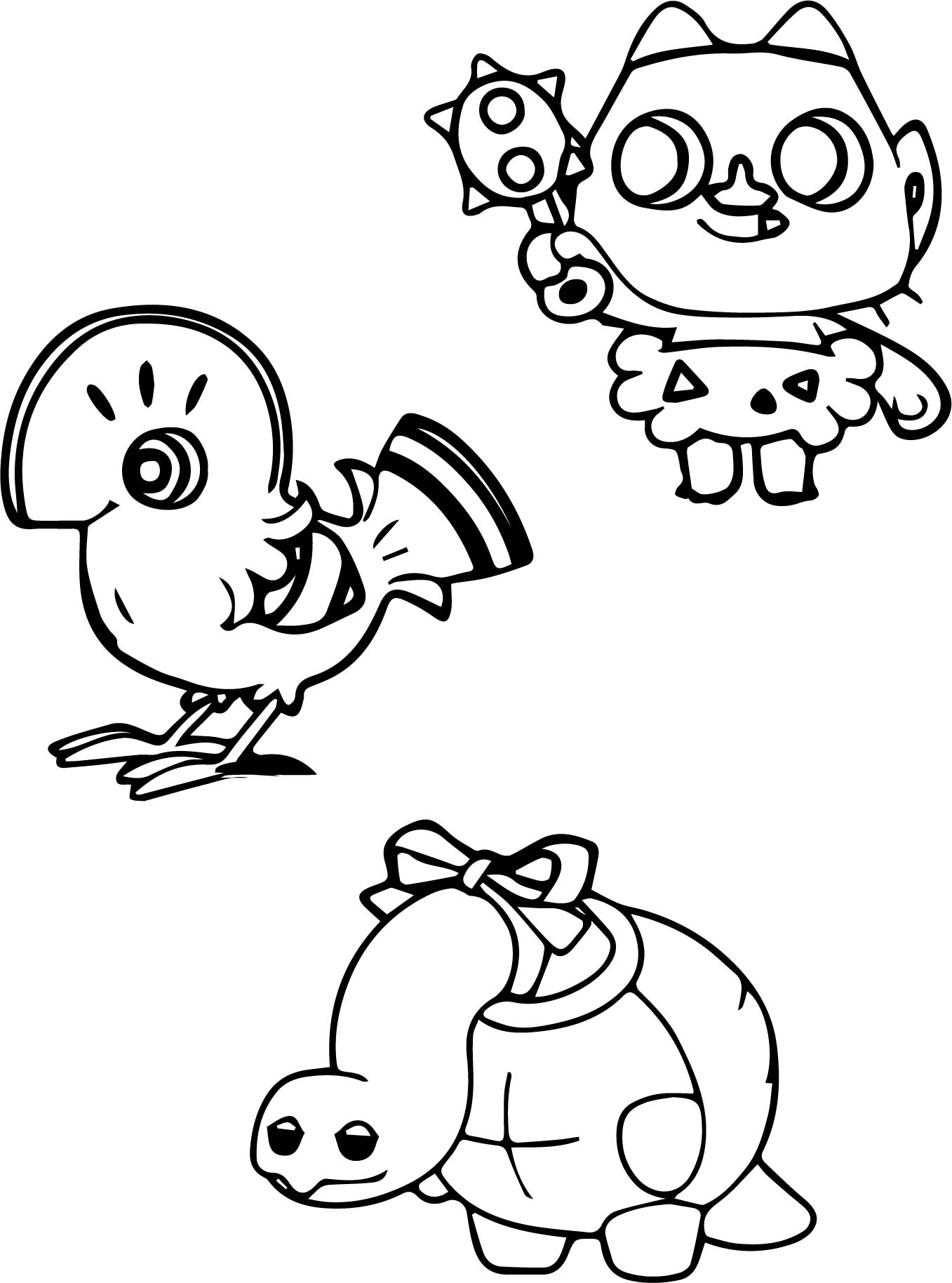 Tortoise Turtle And Other Animal Coloring Page Wecoloringpage