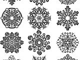 Twelve Fantastic Snowflake Coloring Page
