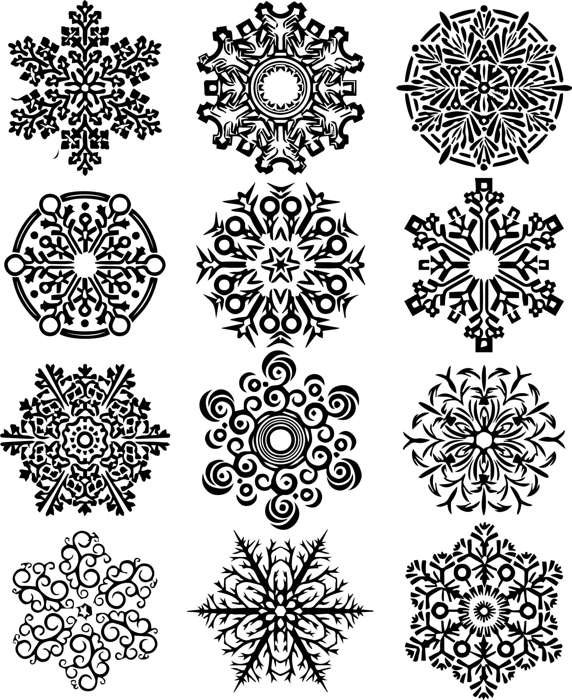 Twelve Fantastic Snowflake Coloring Page | Wecoloringpage.com