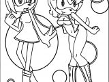 Two Girl Amy Rose Coloring Page
