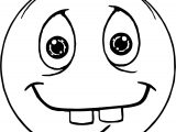 Two Tooth Face Emoticon Coloring Page