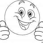 Very Happy Emoticon Face Coloring Page