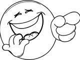 Very Laugh Face Emoticon Coloring Page
