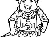 Veterans Day Soldier Big Coloring Page