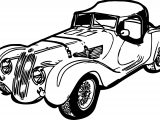 Vintage Antique Long Car Coloring Page