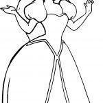 Wedding Princess Ariel coloring page