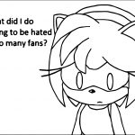 What Did I Do Amy Rose Coloring Page