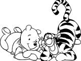 Winnie The Pooh And Winnie Bear Coloring Page