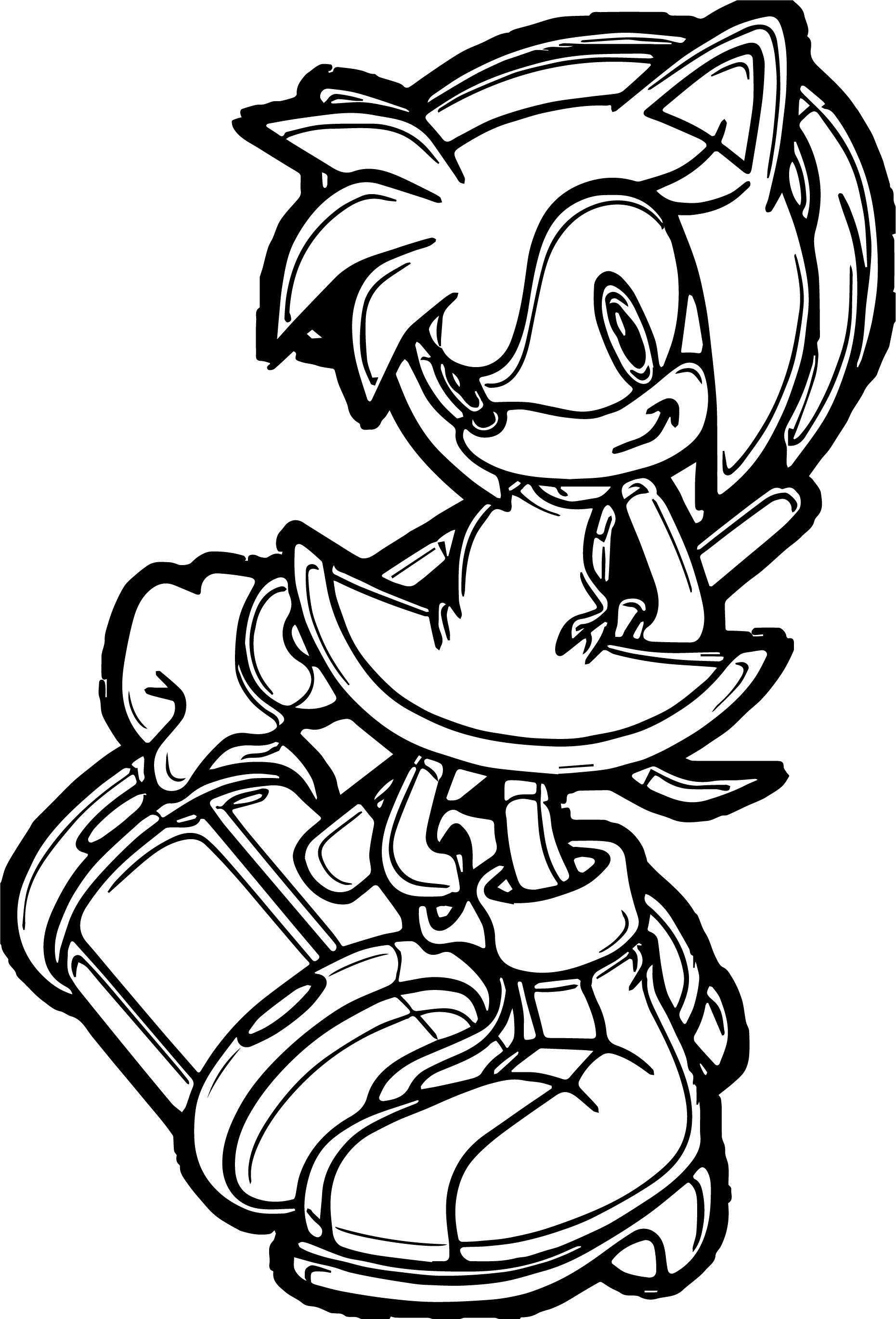 Wonderful Amy Rose Coloring Page