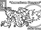 Yotd American Dragon Coloring Page