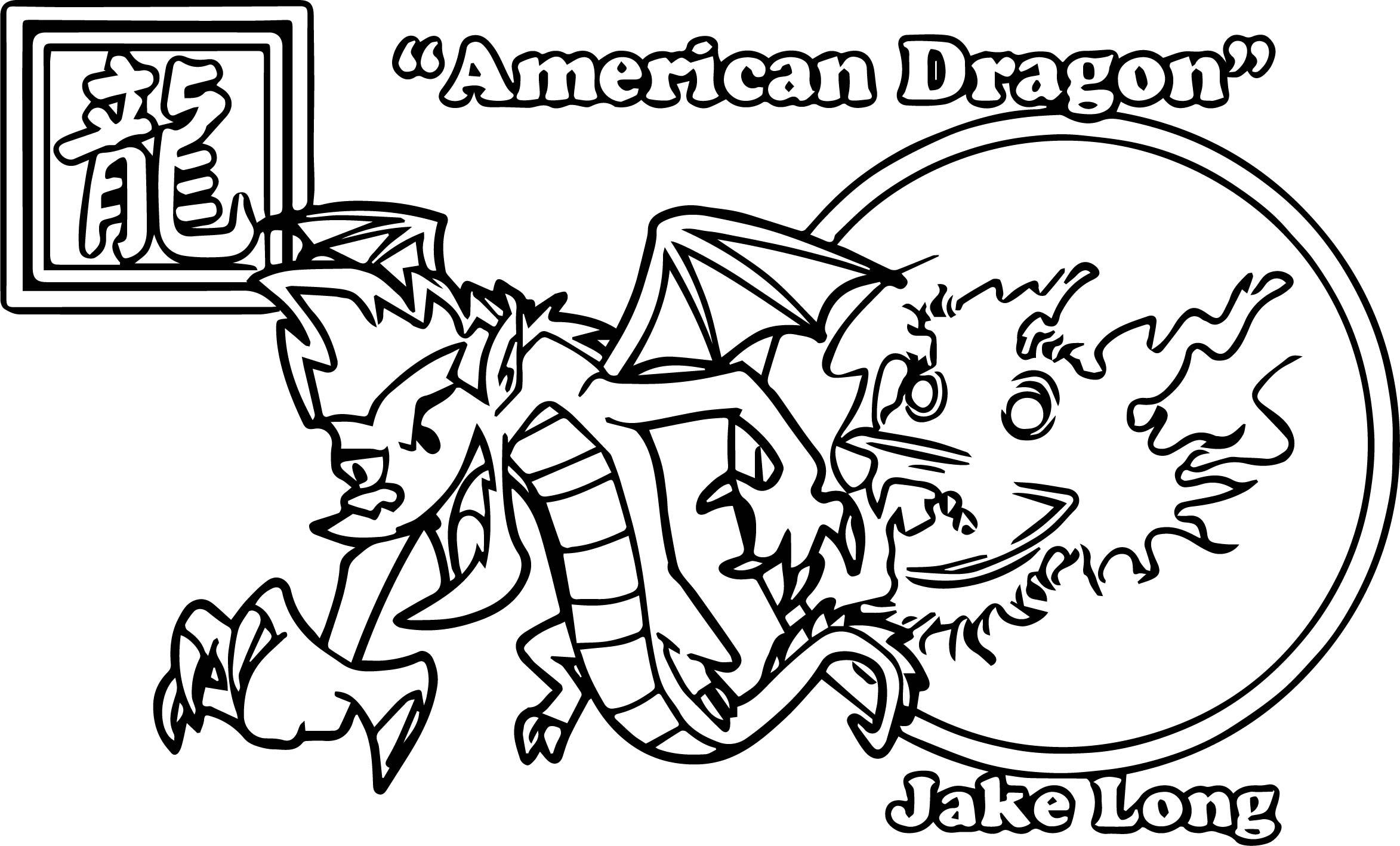 Yotd American Dragon Coloring Page