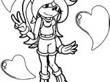 Zany Amy Rose Coloring Page