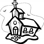 All Old Church Coloring Page
