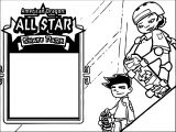All Star Skate Park American Dragon Jake Long Coloring Page