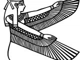 Ancient Egypt Bird Woman Coloring Page