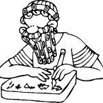Ancient Egypt Man Drawing Symbol Coloring Page