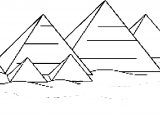 Ancient Egypt Pixel Pyramid Coloring Page