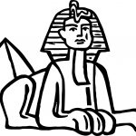 Ancient Egypt Pyramid Statue Coloring Page