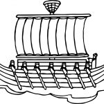 Ancient Egypt Ship Coloring Page