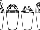 Ancient Egypt Symbols Coloring Page