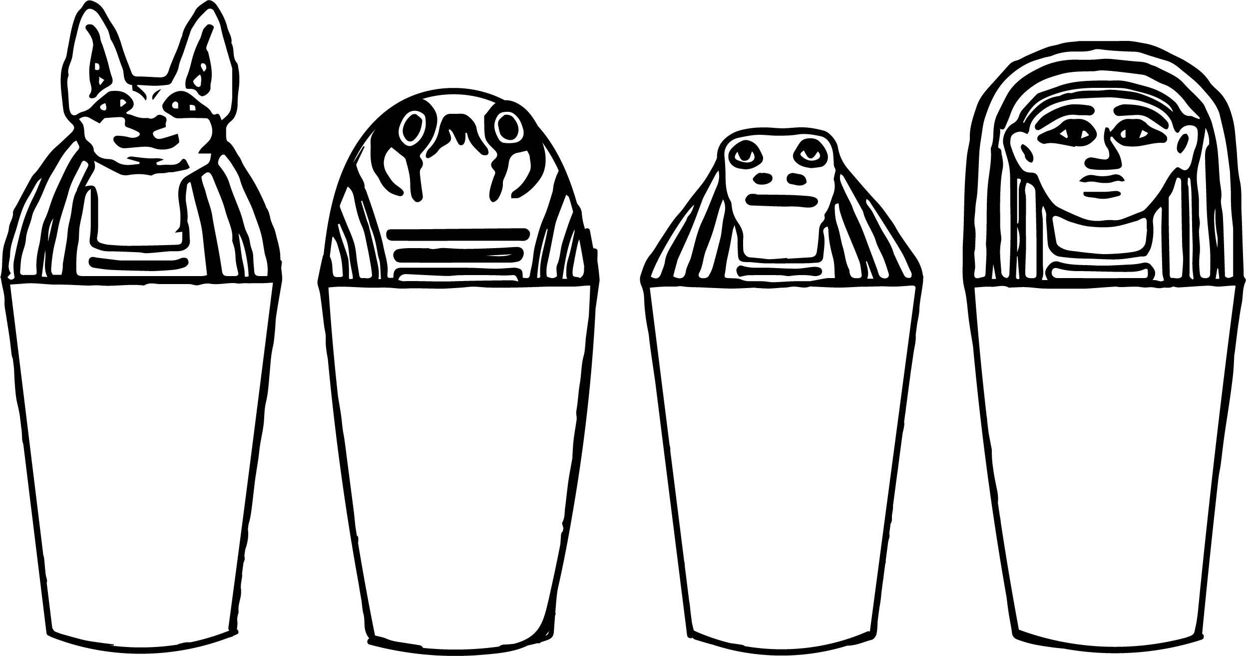 Ancient Egypt Symbols Coloring Page