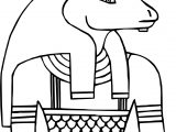 Ancient Egypt Taurus Coloring Page