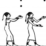 Ancient Egypt Two Woman Coloring Page