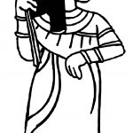 Ancient Egypt Woman Holding Flower Coloring Page