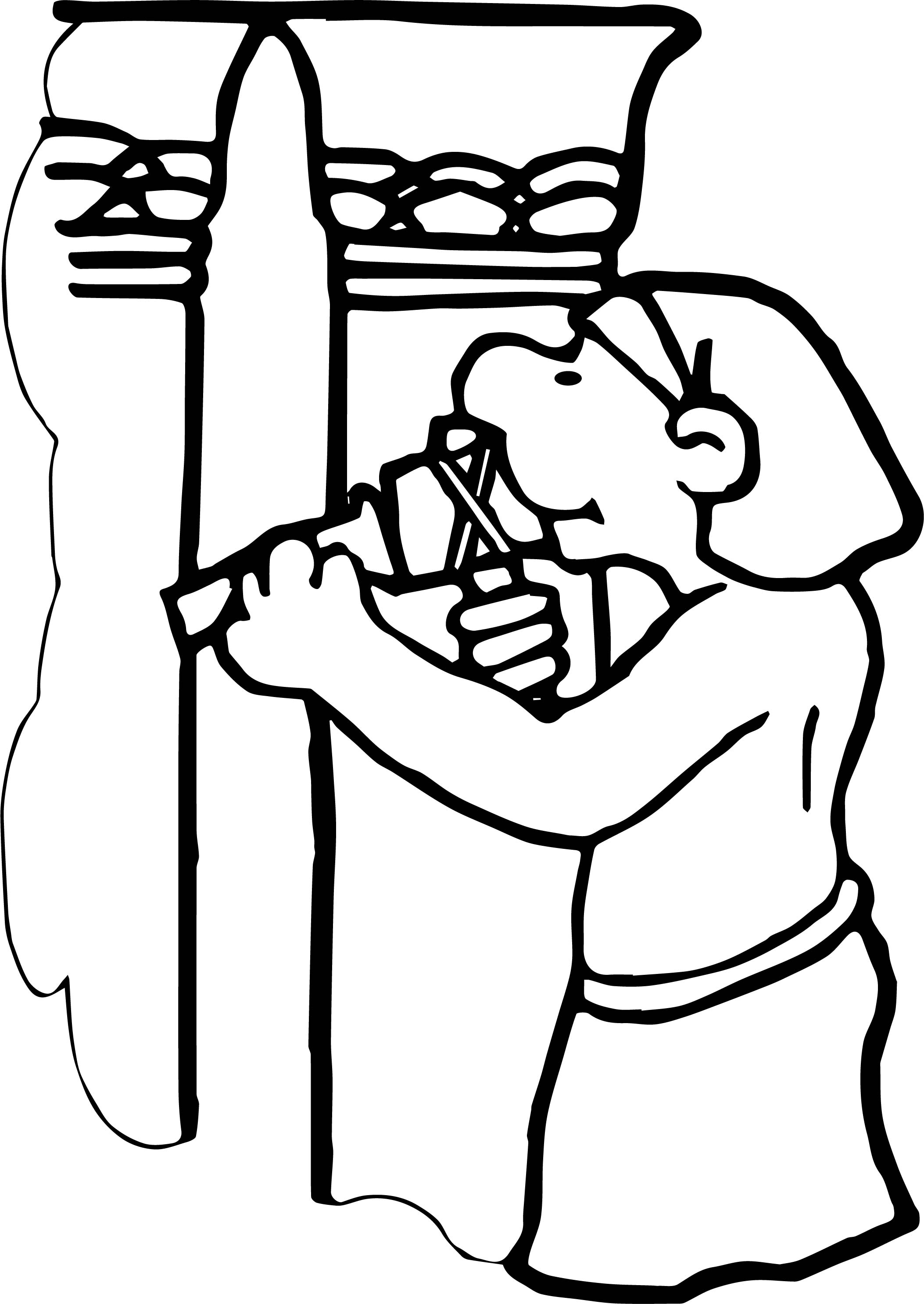 Ancient Egypt Worker Coloring Page