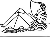 Ancient Rome Pyramid Coloring Page