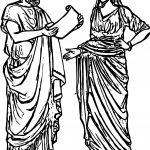 Ancient Rome Sketch Coloring Page