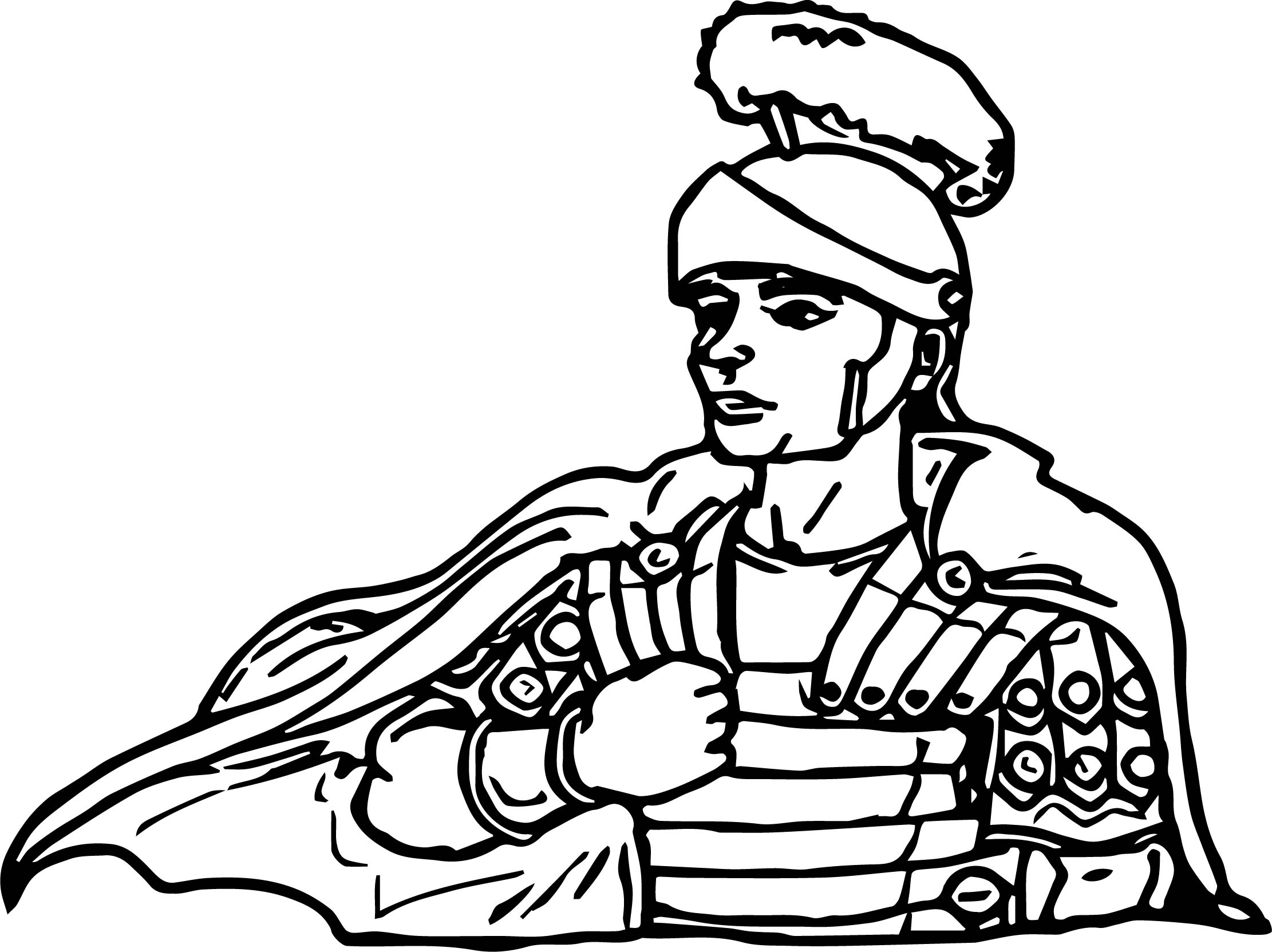 Ancient Rome Stance Coloring Page