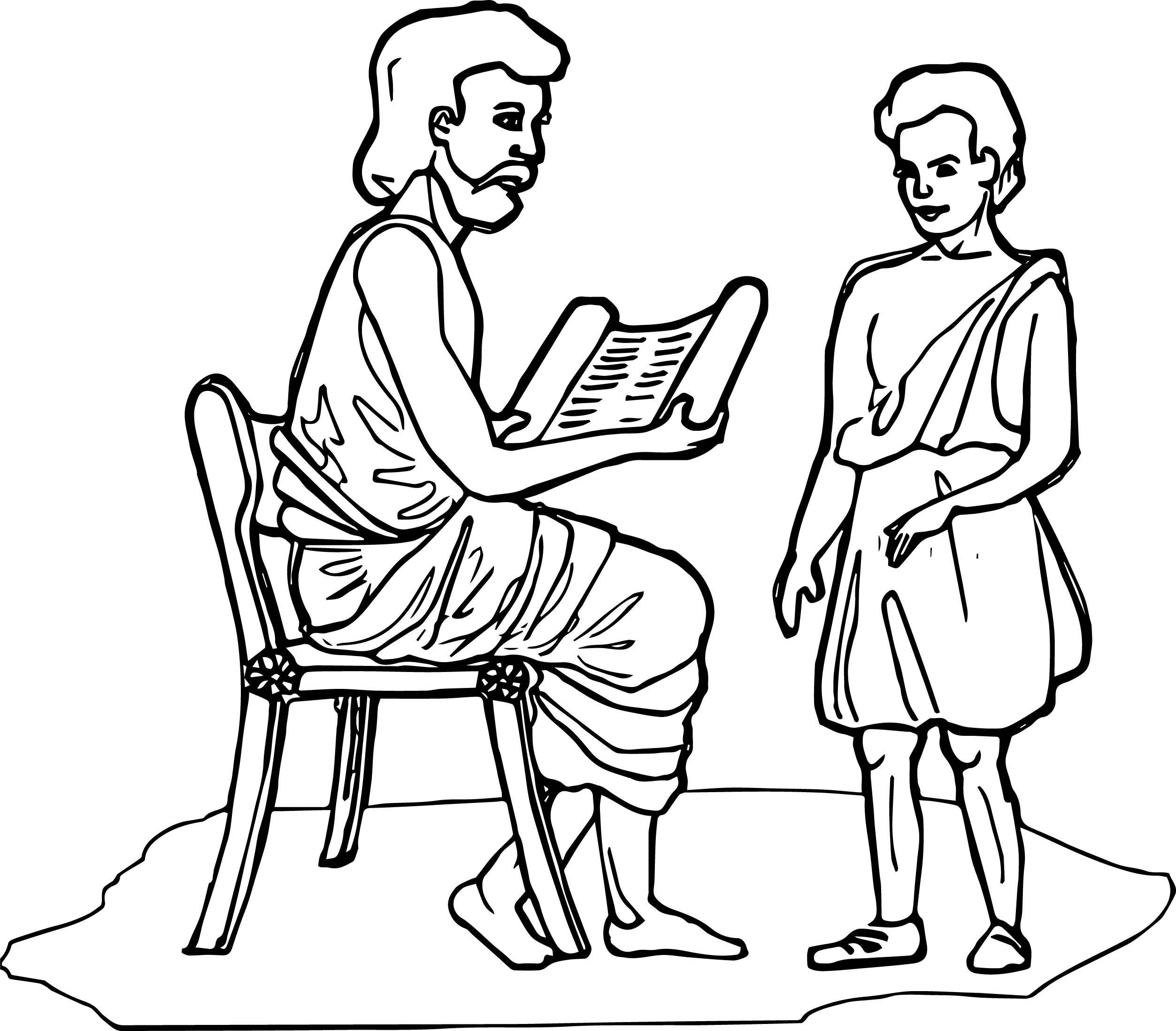 Ancient Rome Student Coloring Page