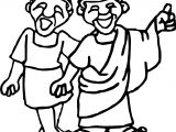 Ancient Rome Two People Coloring Page