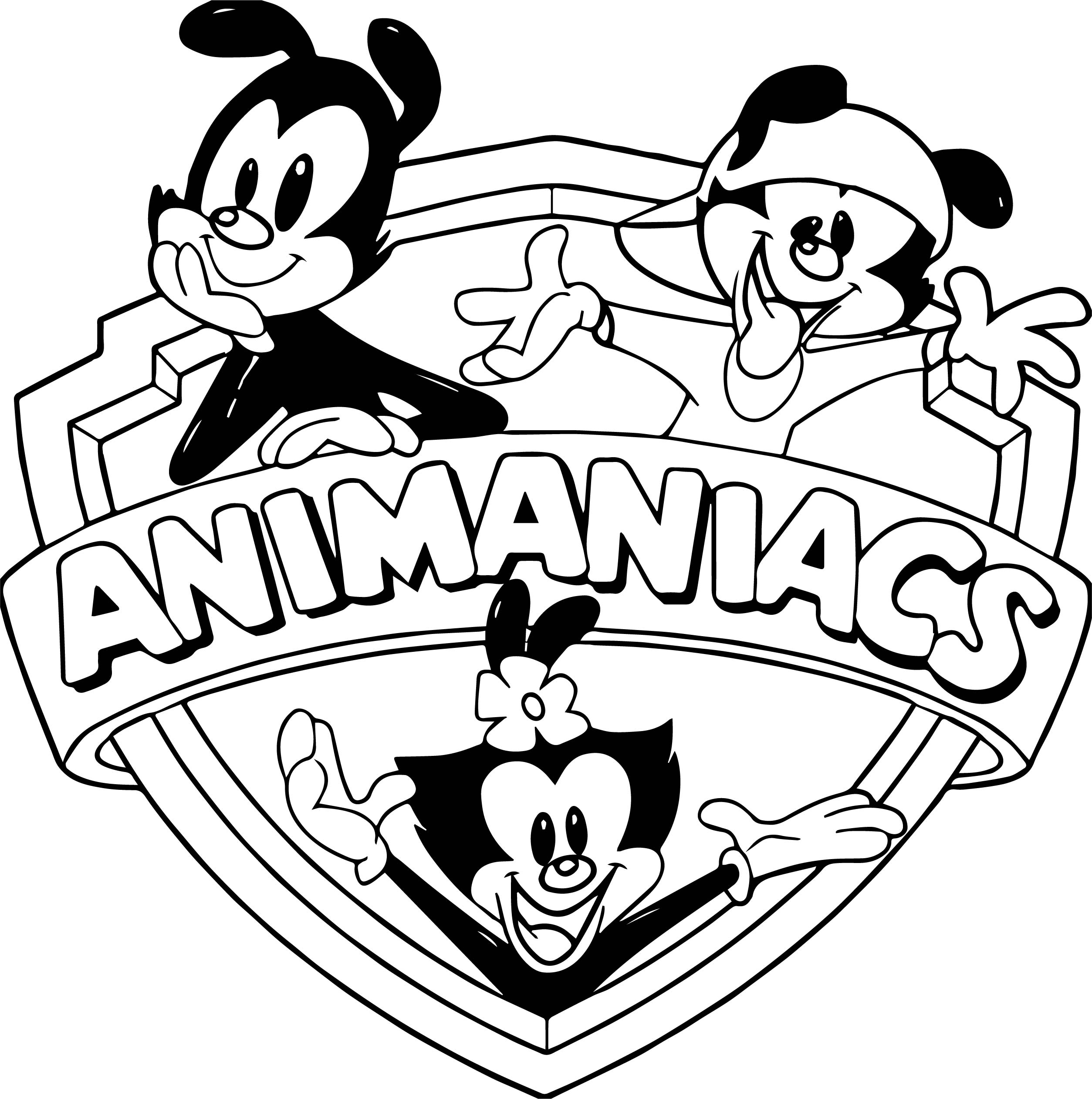 Animaniacs logo coloring page for Animaniacs coloring pages