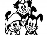 Animaniacs Together Coloring Page