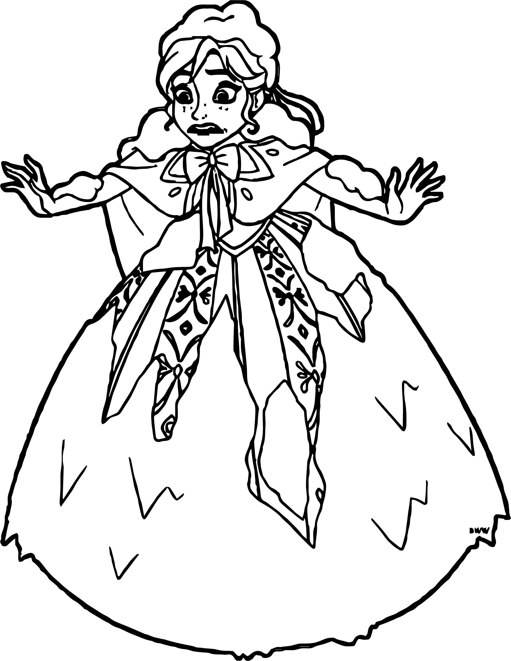 Anna Covered In Snow Coloring Page