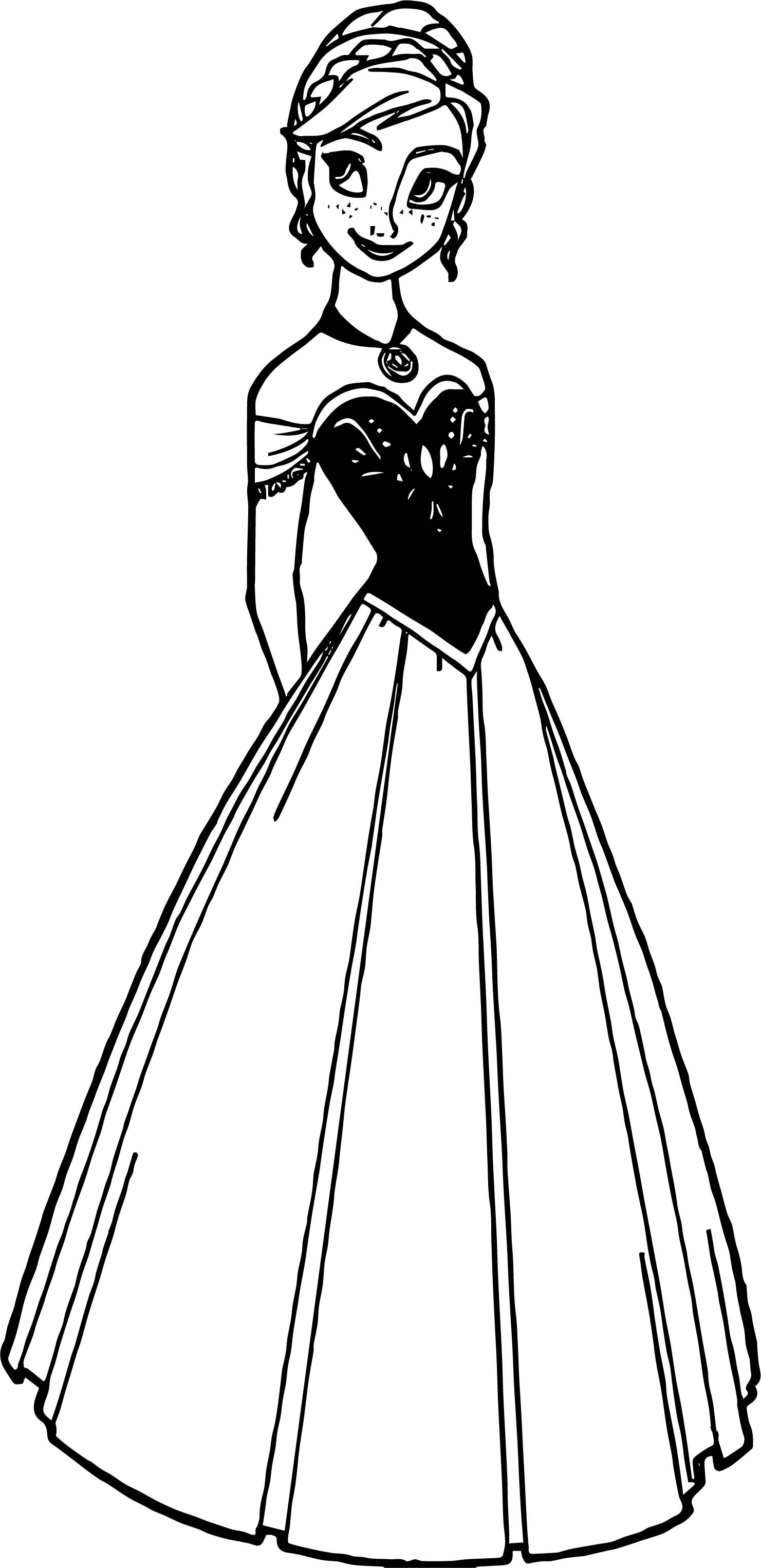 Anna Dress Coloring Page