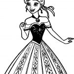 Anna Dress New Coloring Page