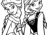 Anna Elsa How Am I Coloring Page