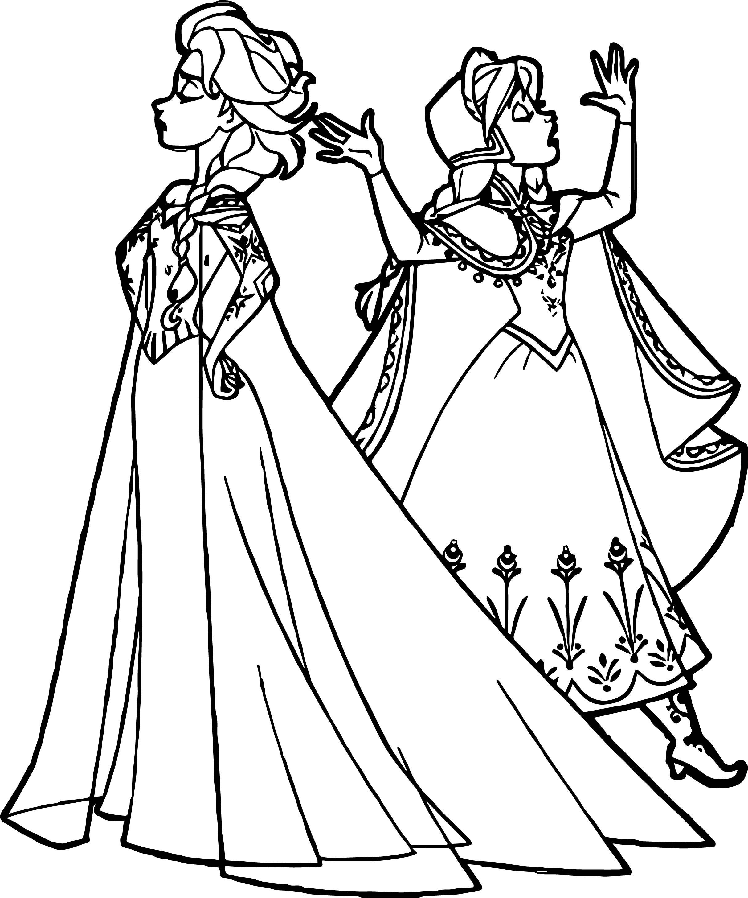 Anna Elsa Offended Coloring Page